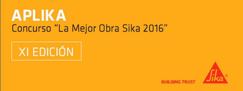 "Concurso ""La Mejor Obra Sika 2016"""