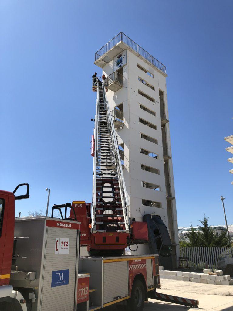 La Línea Vertical ejecuta las revisiones anuales reglamentarias de 2018 de los equipos de protección y rescate del Consorcio de bomberos de Málaga