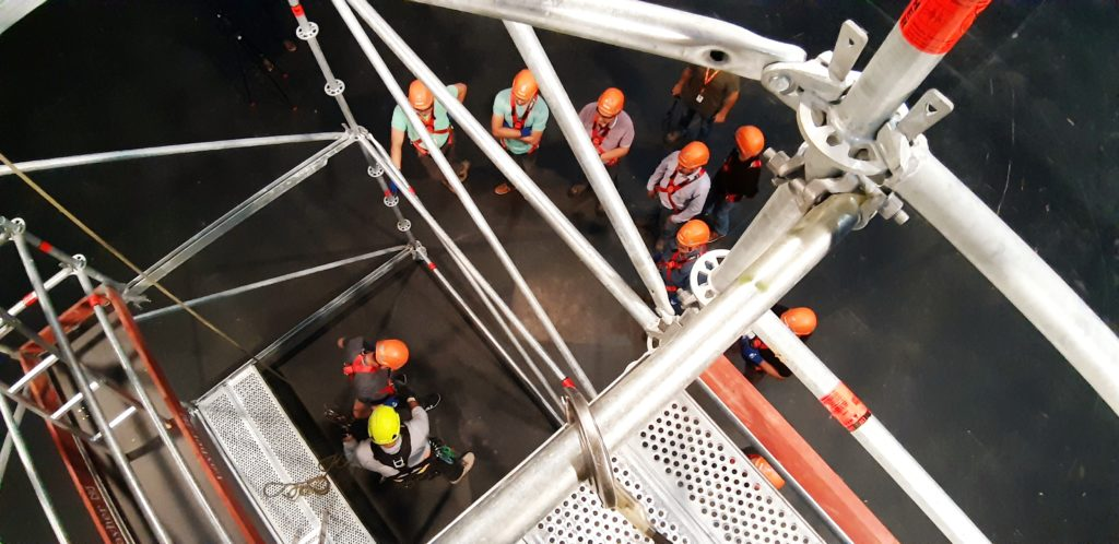 G8 Capacitaciones estrena una torre de entrenamiento en Chile