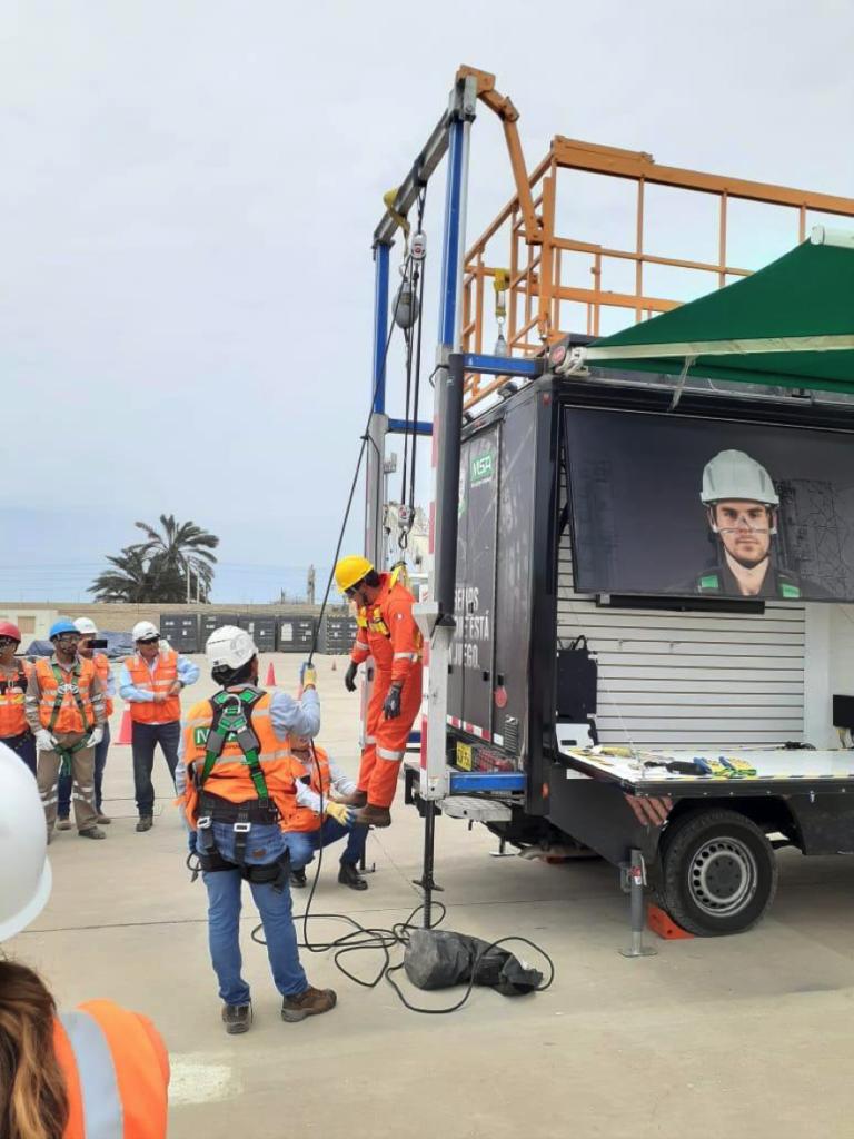 LA LÍNEA VERTICAL se une a MSA en Perú para capacitaciones en trabajos de riesgo