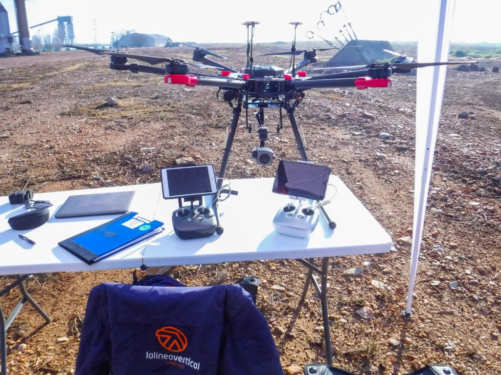 LA LÍNEA VERTICAL, también pionera en Perú en el empleo de drones en instalaciones industriales